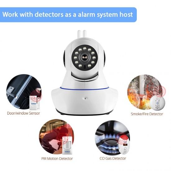Zabezpečovací systém pre domácnosť - Protipožiarny poplachový systém bezdrôtový dymový senzor kamerový systém