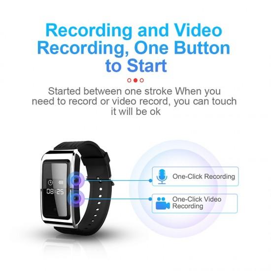 Hodinky s kamerou (video, foto) a odposluchom 64 GB pamäť