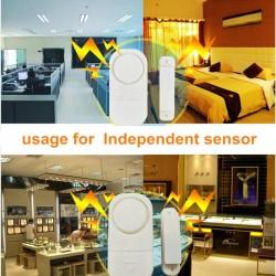 Sada 5 ks bezpečnostných magnetických senzorov na okná alebo dvere