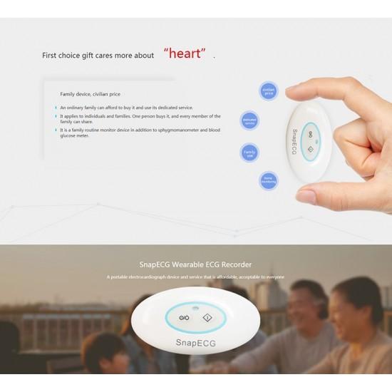 Bezdrôtový prenosný EKG monitor - sledovač EKG srdca pre Android a IOS