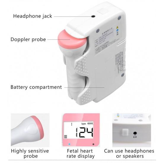 Prenosný prenatalny detektor srdcového rytmu s dopplerovou ultrazvukovou sondou
