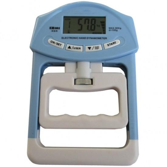 Ručný dynamometer (merač sily stisku) - digitálny s pamäťou (sila stisku max. 90 kg)