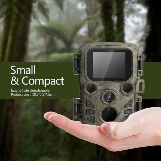 Mini vodeodolná fotopasca s nočným videním a záznamom foto a videa na dátovú kartu