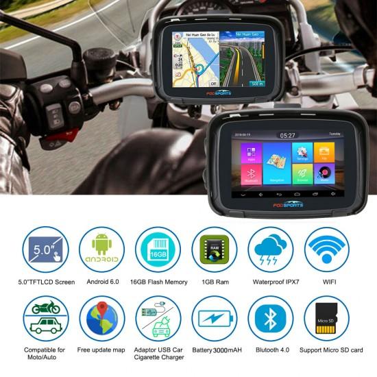 GPS navigácia pre motorky s OS Android a mapami Európy zdarma