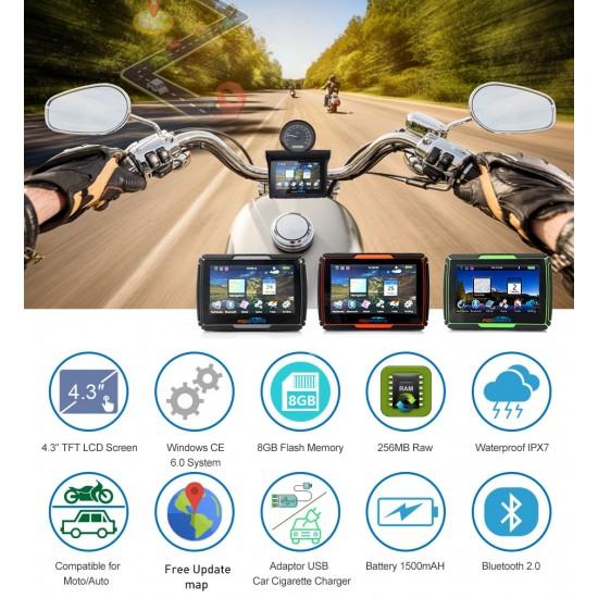 GPS navigácia pre motorky s Windows CE 6.0 a mapami Európy zdarma