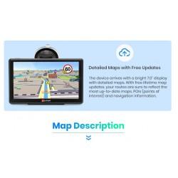 """7"""" GPS navigácia do auta s doživotnou aktualizáciou máp"""