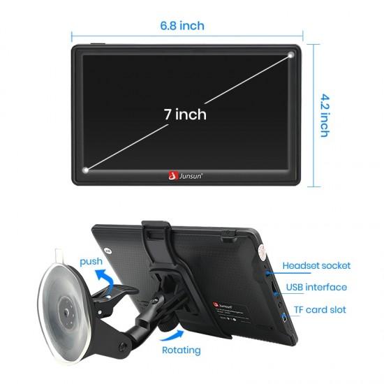 """7"""" GPS navigácia do auta s doživotnou aktualizáciou máp s Bluetooth a extra funkciami"""