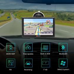 """7"""" GPS navigácia do auta s doživotnou aktualizáciou máp s Bluetooth a parkovacou kamerou"""
