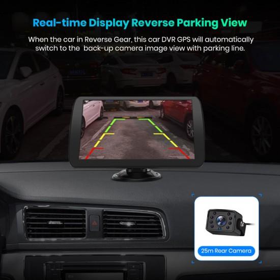"""9"""" GPS navigácia do nákladného auta, kamióna s doživotnou aktualizáciou máp s Bluetooth a parkovacou kamerou"""