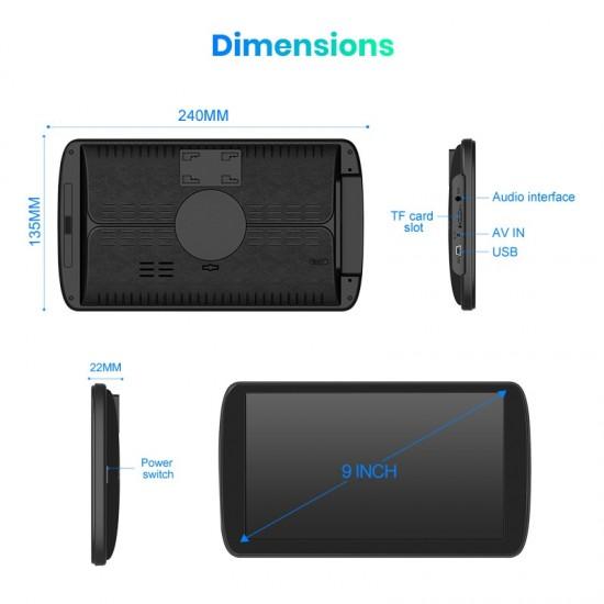 """9"""" GPS navigácia do nákladného auta, kamióna s doživotnou aktualizáciou máp s Bluetooth a extra funkciami"""