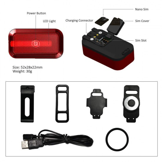 Špeciálny mikro GPS tracker s príslušenstvom