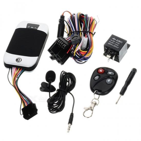 Vodotesný pokročilý GPS tracker s diaľkovým ovládaním, mikrofónom, odstavením motora pre vozidlá a stroje - bezpečnostné a monitorovacie zariadenie