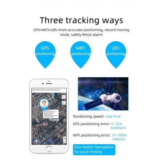 Hodinky s GPS sledovaním výskytu a mobilom – vodotesnosť, 4G, telefunkcie, fotoaparát