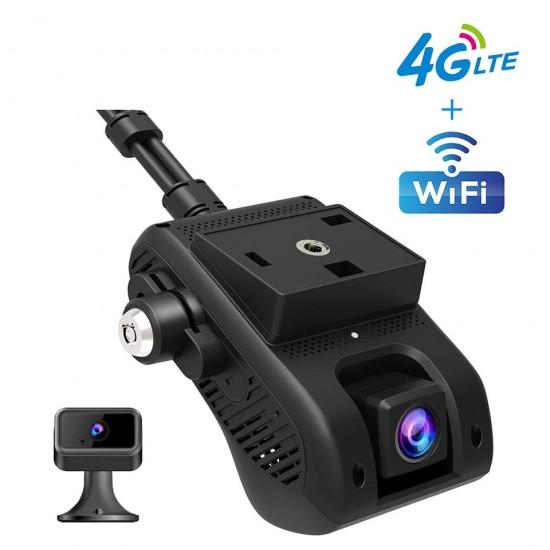 4G GPS tracker s kamerou – obojstranná kamera, streaming videa, wifi hotspot, odstavenie vozidla