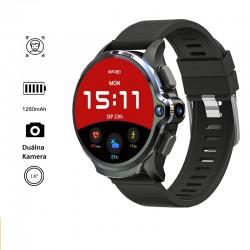 4G Inteligentné, samostatne funkčné Android hodinky pre mužov 3 GB RAM pamäte, 32 GB ROM , 1260 mAh batéria, dvojitá kamera, ID tváre GPS, WiFi