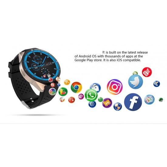 Elegantné smart hodinky s mobilom, GPS, 4 jadrový procesor podpora 3G