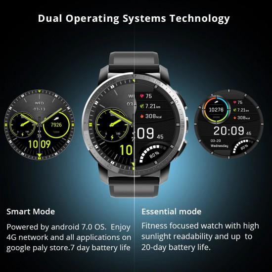Štýlové, vodeodolné, Android smarthodinky, GPS, WiFi, vysoké rozlíšenie obrazovky