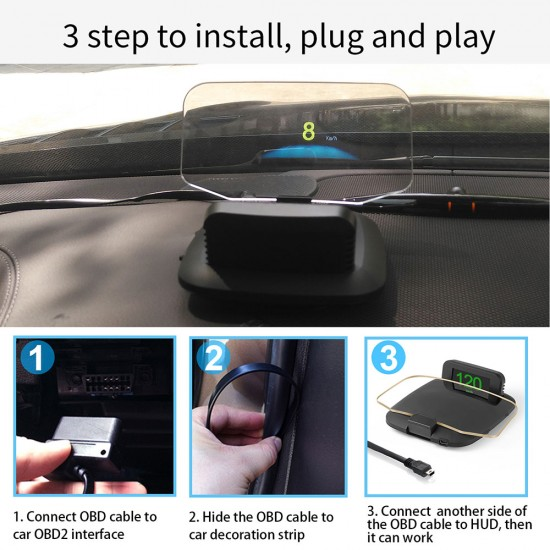 2 v 1 OBD+GPS HUD displej s profesionálnymi funkciami