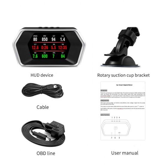 HUD displej s OBD a GPS funkciami