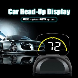 Duálny GPS + OBD HUD displej