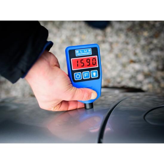 Merač hrúbky laku pre vozidlá - zistenie dvojitého náteru, alebo tmelenia (Podklady - oceľ, galvanizovaná oceľ, hliník)
