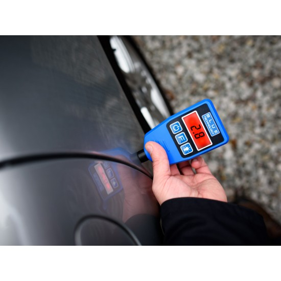Merač hrúbky laku pre vozidlá - zistenie dvojitého náteru, alebo tmelenia (Podklady - oceľ, galvanizovaná oceľ)