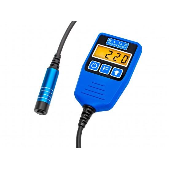 Merač hrúbky laku pre vozidlá s káblovou sondou - zistenie dvojitého náteru, alebo tmelenia (Podklady - oceľ, galvanizovaná oceľ)