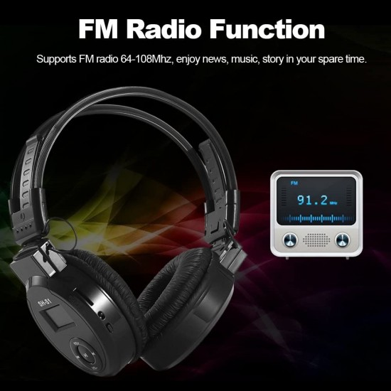 Bezdrôtové slúchadlá so vstavaným MP3 prehrávačom a FM rádiom