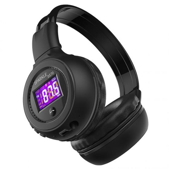 Štýlové slúchadlá, zabudovaný MP3 prehrávač, rádio, slot na SD kartu, Bluetooth pripojenie