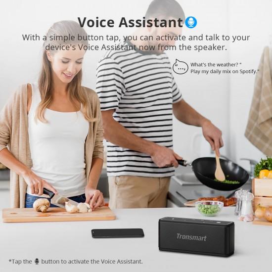Výkonný, prenosný reproduktor, kvalitný čistý zvuk, hlasový asistent, Bluetooth, dlhá výdrž batérie
