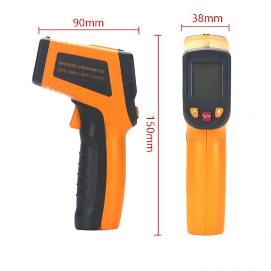 Infračervený, laserový, bezkontaktný  IR termometer s digitálnym displejom