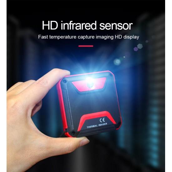 Mini kompaktný termometer, rôzne typy zobrazenia, nabíjateľná batéria, ukladanie snímok na kartu