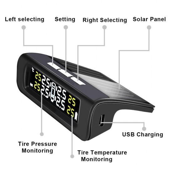 TPMS – Senzor tlaku a teploty pneumatík pre vozidlá so solárnym nabíjaním (TPMS-001-EXT)