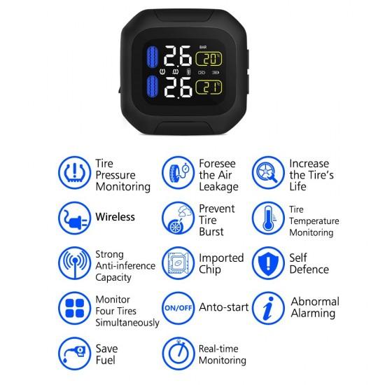 TPMS – Senzor tlaku a teploty pneumatík pre motorky