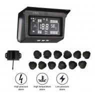 TPMS PRE KAMIÓNY – meranie tlaku a teploty v pneumatikách (12 senzorov)