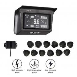 TPMS PRE KAMIÓNY – meranie tlaku a teploty v pneumatikách (18 senzorov)